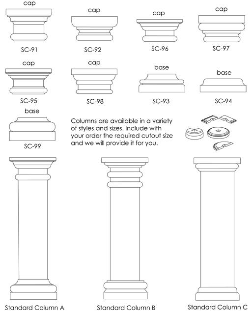 Columns - South Coast Foam Shapes